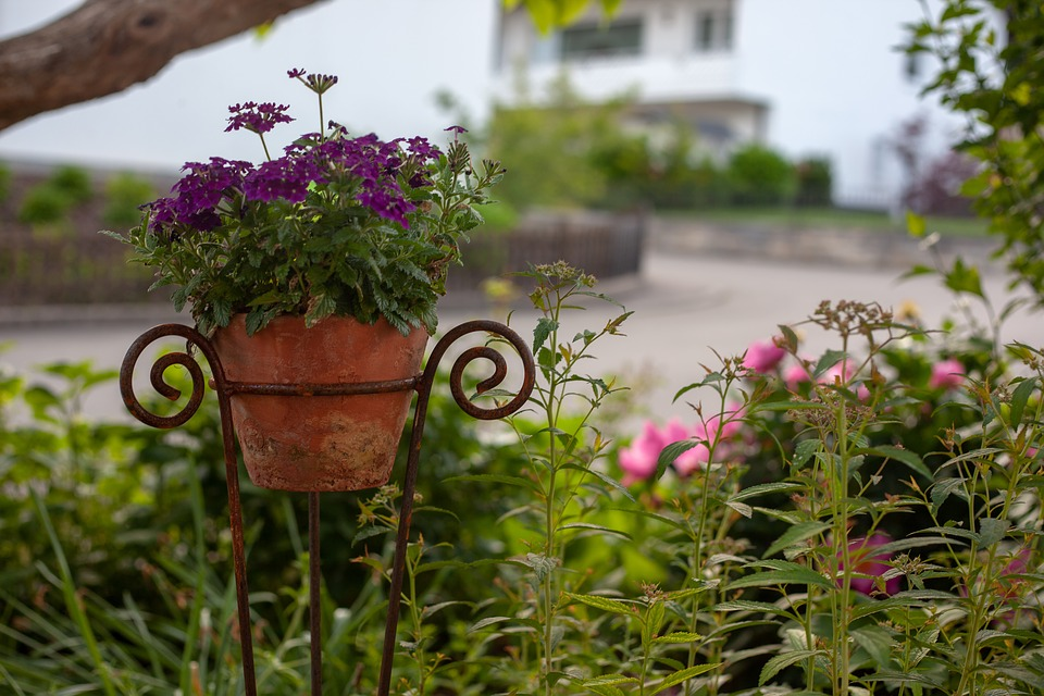 tuin beveiligd